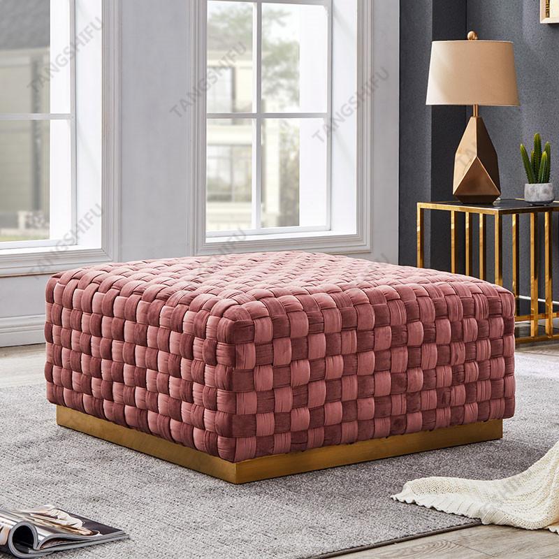 TSF-6709-Dust Rose Velvet Living room furniture