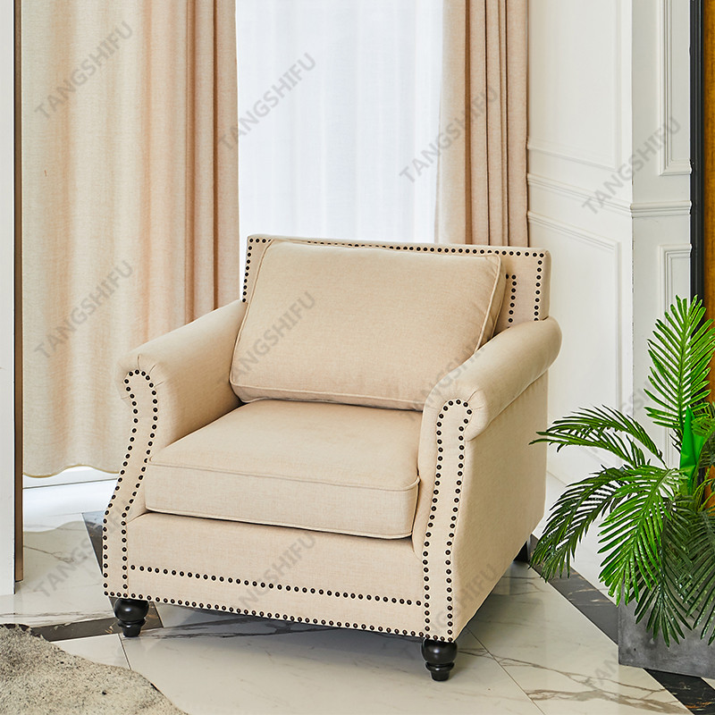 TSF-63801-1-Beige Chair Accent chairs