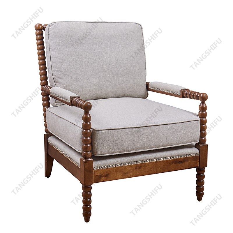 TSF-257 This wholesale seating chair woodis a living room furniture. The upholstered guest chair is exquisitely made, lordly and comfortable.