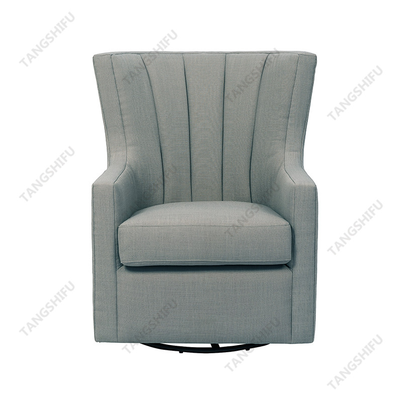 TSF-3301SW Grey Linen Accent chairs