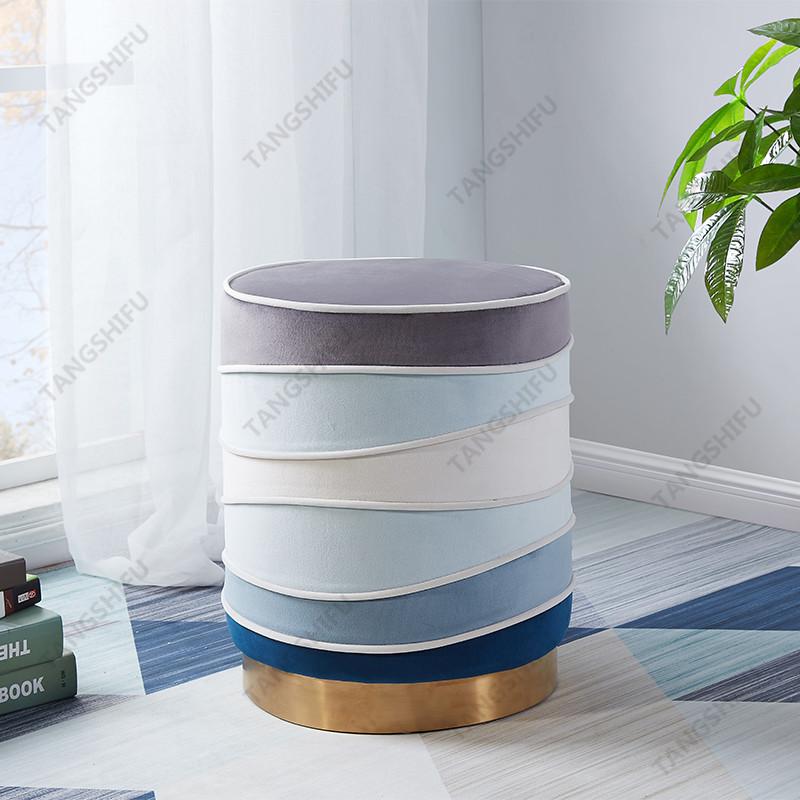 TSF-3327-Mixed Velvet Ottoman Living room furniture