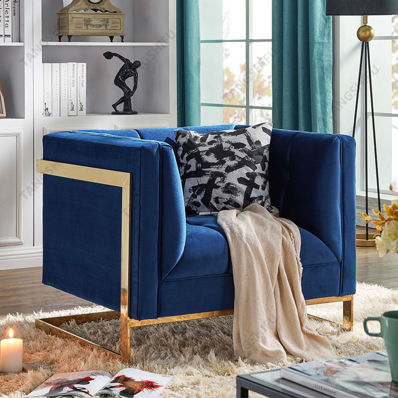 TSF-5507-1-Navy Gold-CC Accent chairs