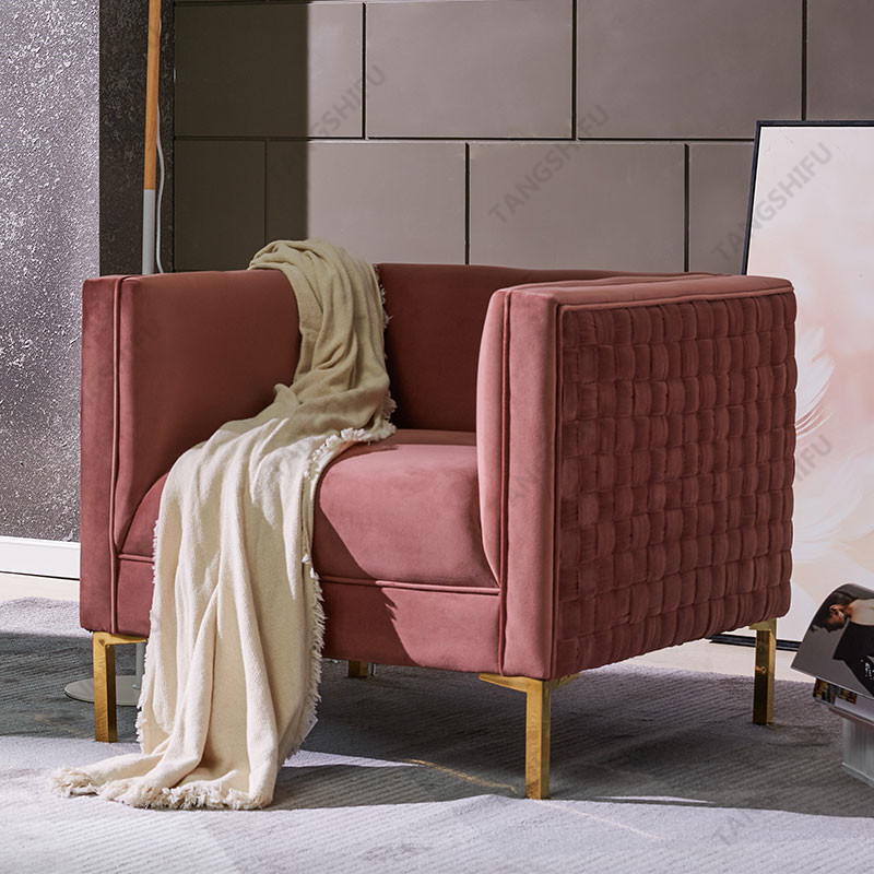 TSF-6625-Pink Gold Accent chairs