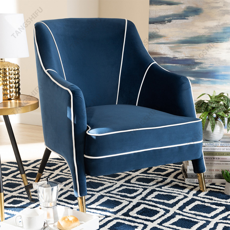 TSF-6634-Navy Blue Accent chairs