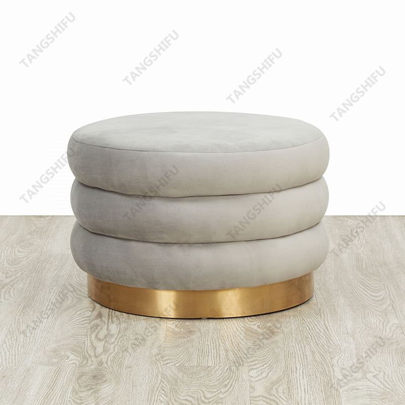 TSF-6696-CC-57 The wholesale leisure stools are used to decorate the room at home. The lordly stools is round base furniture with beautiful shape.