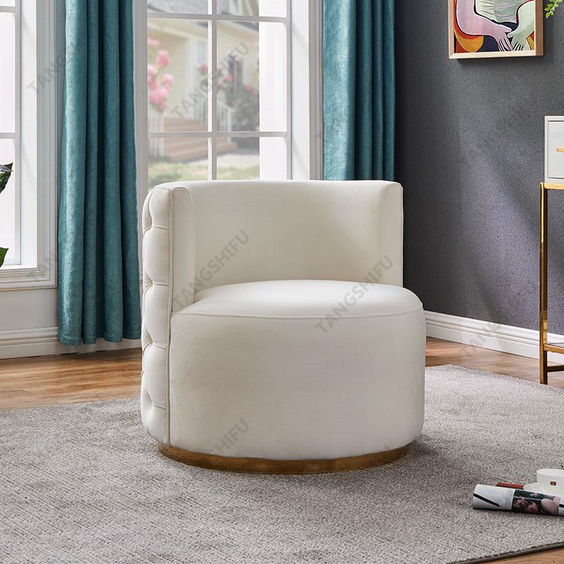 TSF-6697-Cream Velvet CC-01 Accent chairs