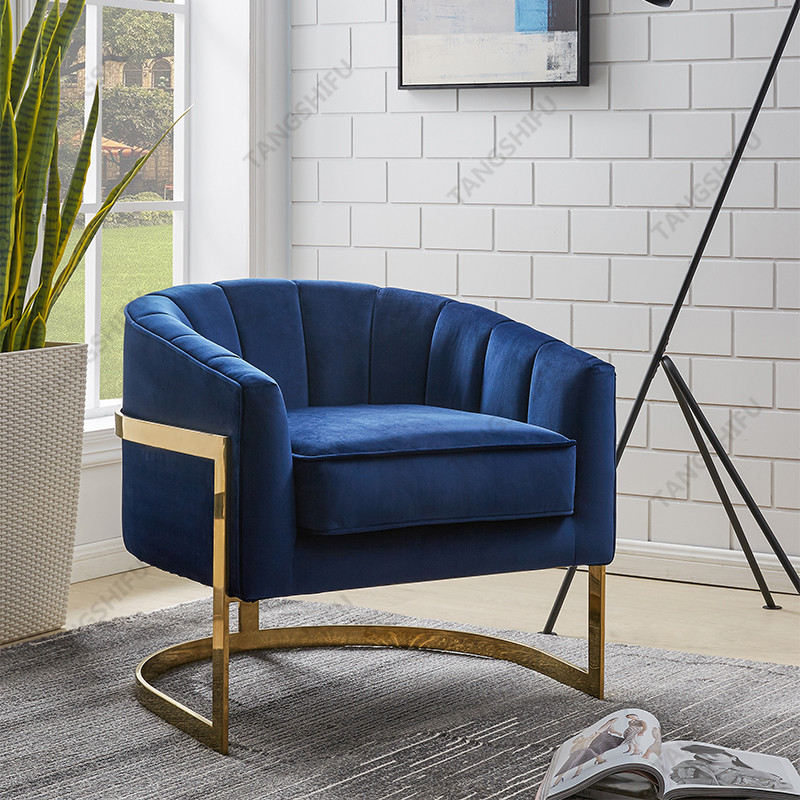 TSF-7707-Navy Gold-WI9264v Accent chairs