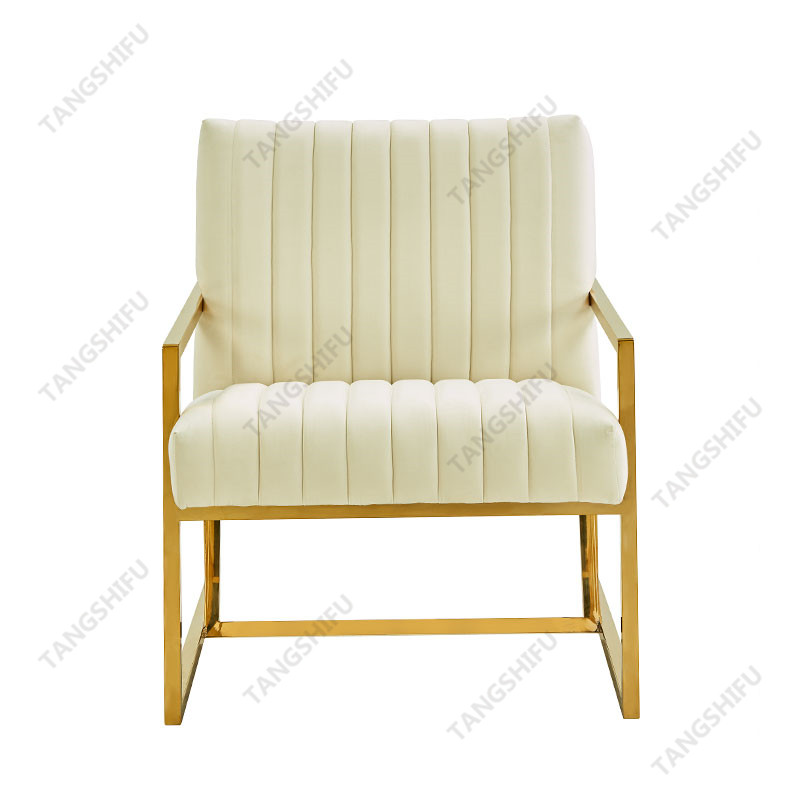 TSF-7754D-Cream Velvet CC-01 Accent chairs