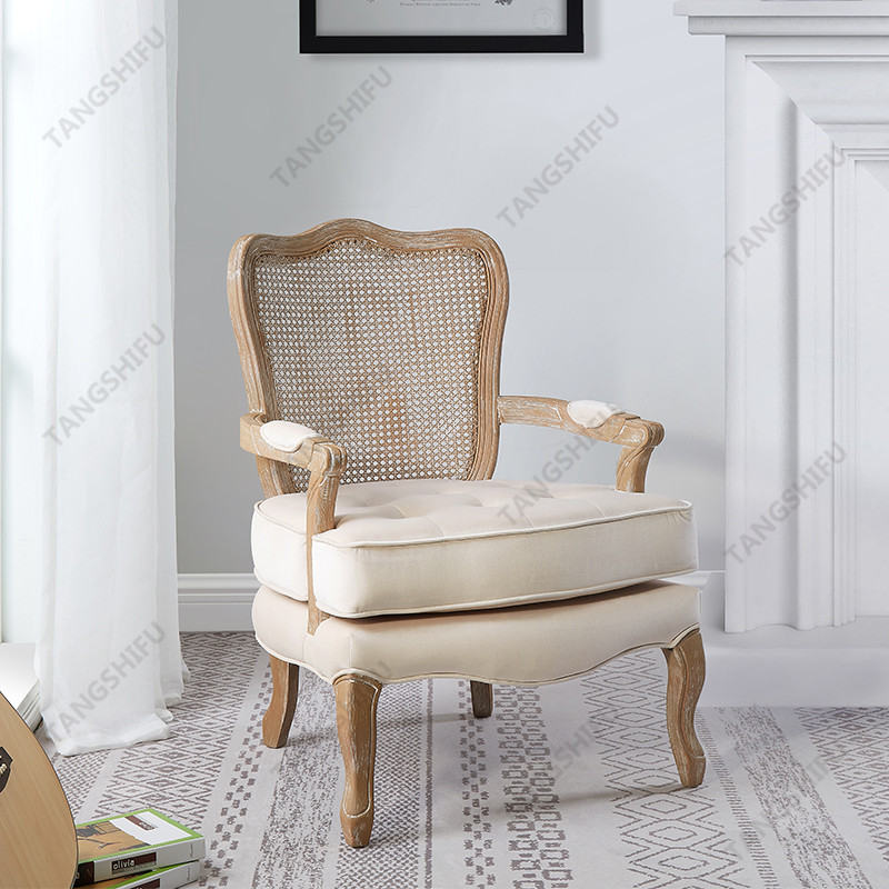 TSF-7764-Beige Velvet Accent chairs