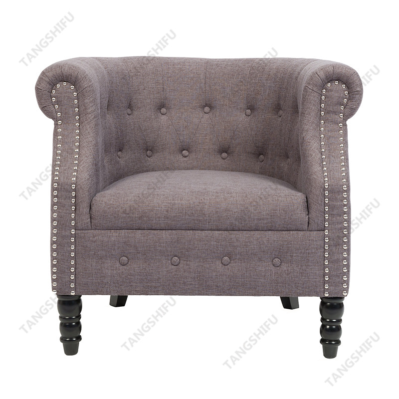TSF-8306-Grey Linen Accent chairs