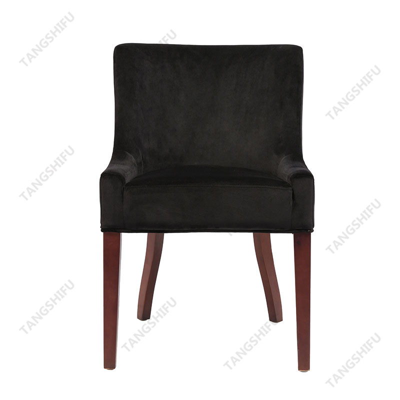 TSF-D035-Black Velvet Dining Chairs