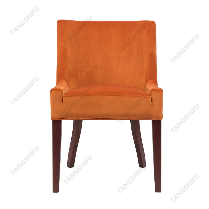TSF-D035-Burnt Orange Velvet Dining Chairs