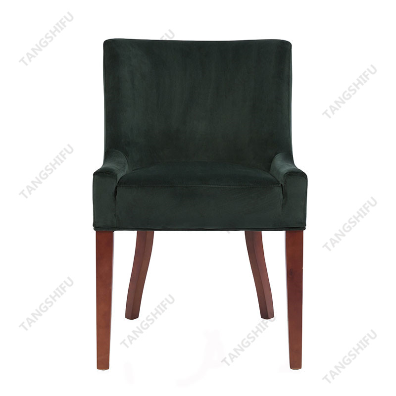 TSF-D035-Green Velvet Dining Chairs