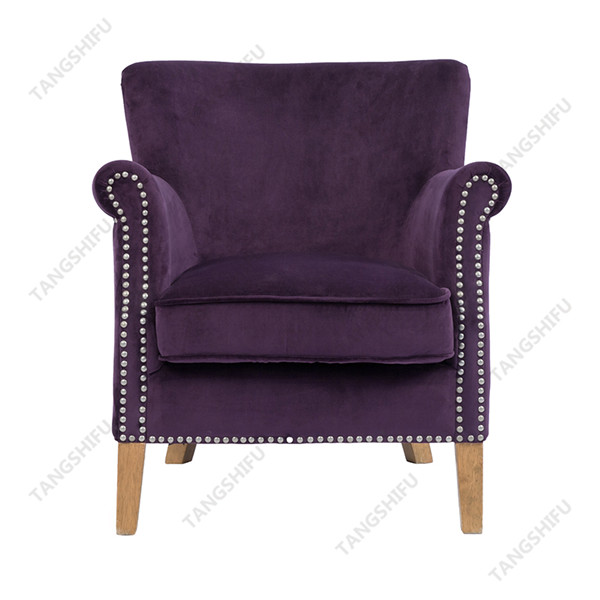TSF-8010-Purple Velvet Accent chairs