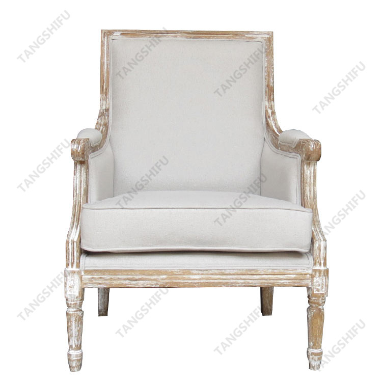 TSF 9233 Beige Upholstered dining chairs with arms TSF 9233 beige can be used in the living room, bedroom and balcony. It has beautiful appearance, good material quality and convenient display.