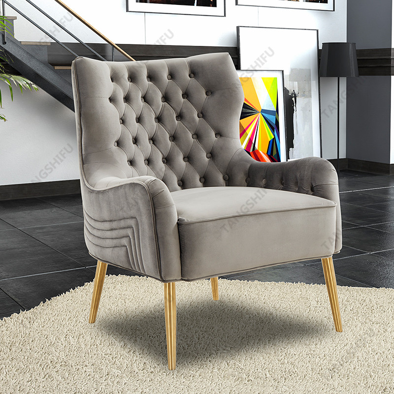 TSF-6741-Slate-Grey-Velvet Accent chairs